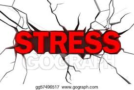 Word In Red Stock Illustration Word Stress In Red Color With Crack