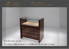Standing Watch Display Case Jewellery Display Wood Cabinet Standing Stands Mirrored Jewelry 53