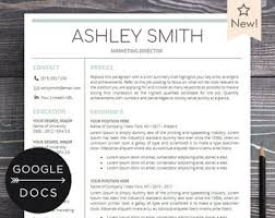 Using Google Docs Resume Template Google Docs Resume Template Professional Resume Cv Template Etsy
