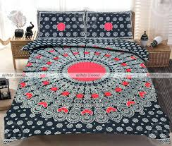 king size red black peacock feather embroidered cotton cover duvet sets argos bedding