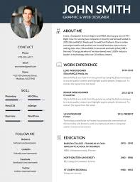 Best Resume Template Free 100 Most Professional Editable Resume Templates for Jobseekers 1