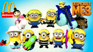 2017 mcdonalds happy meal minions toys plete set deable me 3 keith s toy box unboxing