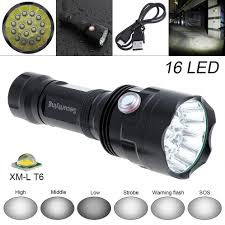 Securitying Lights Us 26 59 37 Off Hot Securitying Super Bright 16x Xm L T6 Led 7200lumens Waterproof Flashlight Torch With 6 Modes Light Support Usb Charging In Led