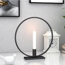 Circle Tea Light Holder Details About Round Circle Metal Candlestick Home Decoration Craft Desk Table Candle Holder