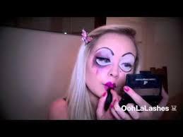 bride of chucky creepy broken doll makeup tutorial tiffany