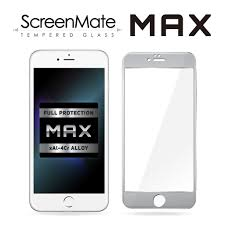 iphone 6 white and silver. iphone 6/6s plus screenmate max tempered glass (silver) iphone 6 white and silver