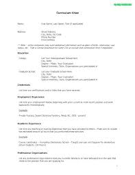 Application Resume Format Resume Formats For Experienced Free