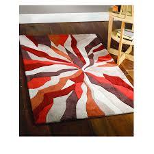 flair infinite splinter orange brown rug