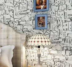 Wzch Abstractive City Behang Slaapkamer Woonkamer Muur Decor Light