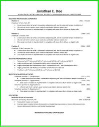 common resume formats