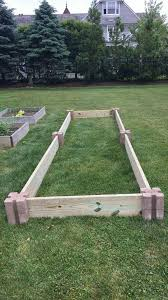 next time i build a raised bed corner blocks from home depot