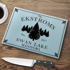 personalized cabin series glass cutting boards 7