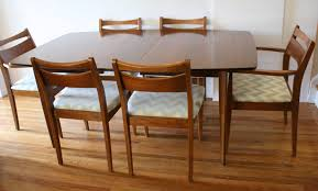 Mid Century Modern Dining Chair Set And Broyhill Brasilia Grey