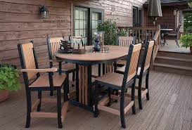 image of contemporary bar height outdoor table