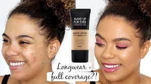 make up for ever matte velvet skin review oily skin wear test flash photo