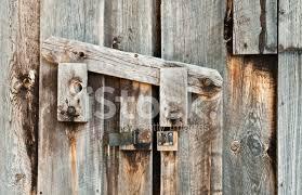 wooden barn door latch close up