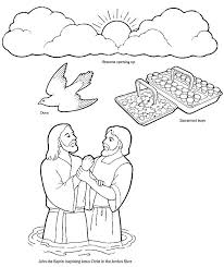 Jesus Baptism Coloring Pages Page Lds