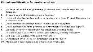 Project Engineer Job Description Youtube