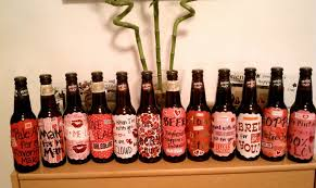 diy valentine s beer labels credit fitness and feta