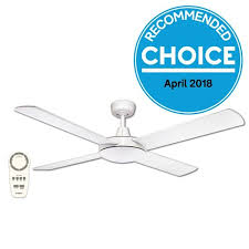 urban 2 dc ceiling fan with remote white 52