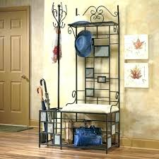 Coat Racks With Benches Beauteous Hall Coat Rack Bench Entryway Storage Antique Hall Coat Rack Bench