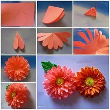 Make Flower With Paper Wonderful Diy Paper Dahlias Flower Crafts Making Flowers Paper
