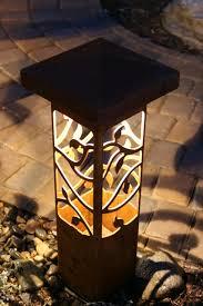 garden lighting bollards. Decorative Steel Bollard Outdoor Lights Concrete Bollards Garden Lighting