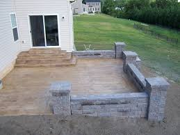 stamped concrete patio wood