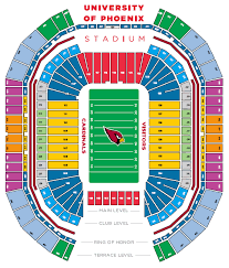 Cardinals Stadium Seating Chart Arizona University Of Phoenix Stadium Glendale Az Seating Charts