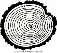 ベクトル 木製である 切口 の A 木 丸太 クリップアート