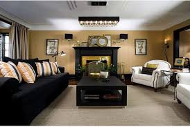 Colin and Justin: Black and gold living room is good to go