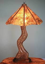 original leaf shade zebrawood table lamp by wood junkie at custommade com
