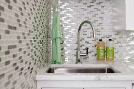 Utility Sink Backsplash Unique Mosaic Glass Backsplash Contemporary Laundry Room Laura Moss