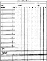 Baseball Game Scorecard How To Score A Baseball Game