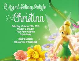 Tinkerbell Invitation Tinkerbell Birthday Party Invitations Personalized
