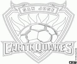 Small Picture San Jose Earthquakes logo coloring page printable game