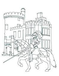 disney castle coloring pages free and princess knights in front of k