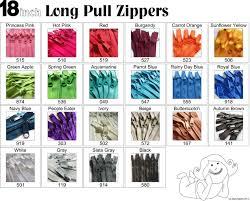 Zipper Size Chart Ykk Zipper Size Chart
