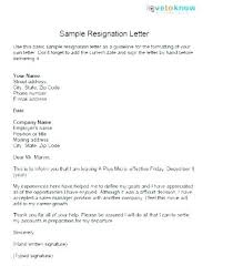 Examples Of Resign Letters Example Of Resign Letter Example Resignation Letter Great Sample