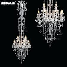 long chandelier ceiling mirror contemporary clear crystal chandelier lights galaxy long and antique oval
