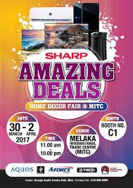 sharp amazing deals home deco fair mitc melaka