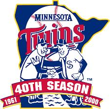 2000 Twins 40 year anniversary logo | Twinstrivia.com