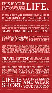 This Is Your Life Quote Inspiration YourLife Inspirational Quotes About Life LIFE CHANGING