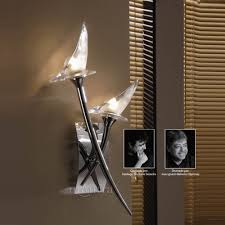 Small Picture Mantra M0308S Flavia 2 Light Chrome Switched Wall Light