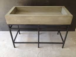 concrete sink trough