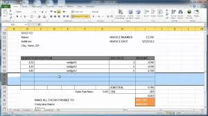 How To Create An Invoice In Excel 2007 Youtube Resume Templates