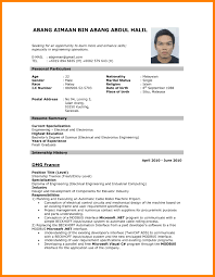 Curriculum Vitae Sample Magnificent Curriculum Vitae Sample Format Malaysia Inspirationa Cv Sample For