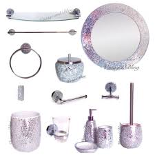 Mosaic Bathroom Accessories Sets Bathroom Accessories Home And Design Home Design