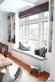 how to build a window bench seat around a window