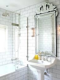 modern antique mirror subway tiles for glazed brick tile faux builders glass installe